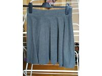 H&m grey skirt xs extra small 6 8 stretchy mini short VGC casual party