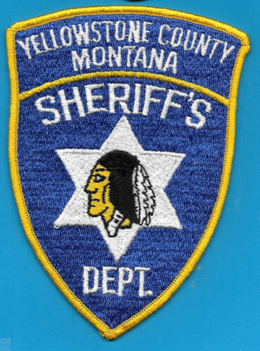 YELLOWSTONE COUNTY MT MONT SHERIFF DEPT (FIRE) INDIAN MOTIF  SD SO YSO YSD