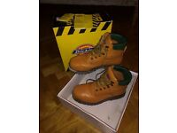 Dickies Traditional Steel Toe Capped boots, size 8. Tan coloured.
