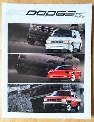 DODGE Range 1992 USA Mkt brochure - Stealth Daytona Dynasty Monaco Spirit Shadow