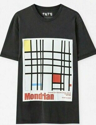 NEW Mens Official Tate Gallery x Pull & Bear Vintage Style Mondrian...
