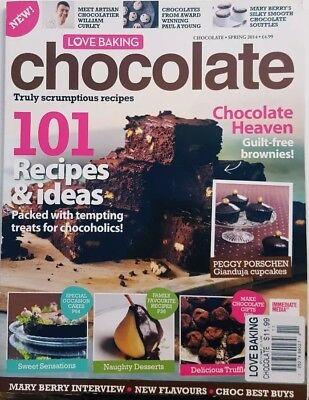 Love Baking UK Spring 2014 Chocolate Recipes & Ideas Cupcakes FREE SHIPPING CB  (Chocolate Fountain Recipe)