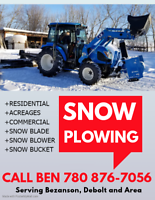 Snow plowing service