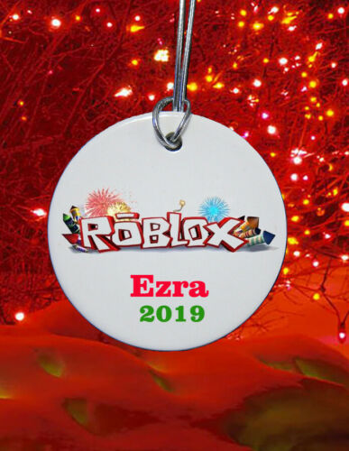 Personalized ceramic Roblox Christmas Ornament custom 2019