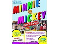 Children's party Entertainers Berkshire . Paw Patrol , Princess, Minnie Vs Mickey dance parties