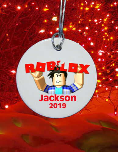 "3"" ceramic Roblox Christmas Ornament  2019 custom personalized sublimated"