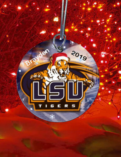 LSU Tigers Christmas Tree Ornament custom 2019 personalized
