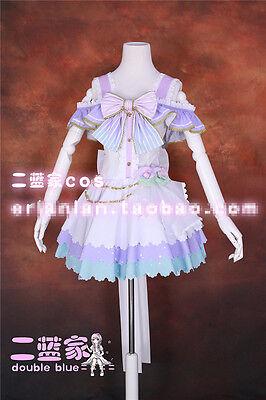 Love Live White Valentine's Day Koizumi Hanayo Cosplay Costume Purple Dress Wing
