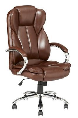High Back Pu Leather Executive Office Desk Task Computer Chair Wmetal Base O18r