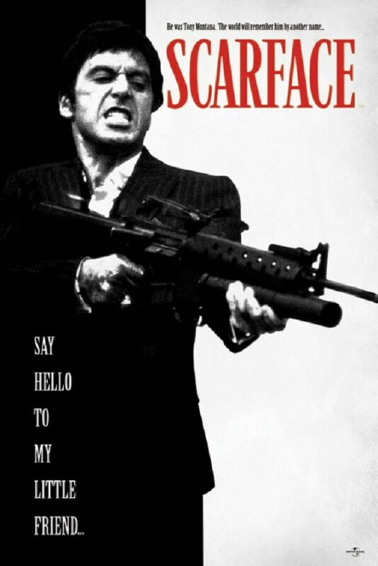 SCARFACE MOVIE POSTER, SAY HELLO TO MY LITTLE FRIEND, size 24x36