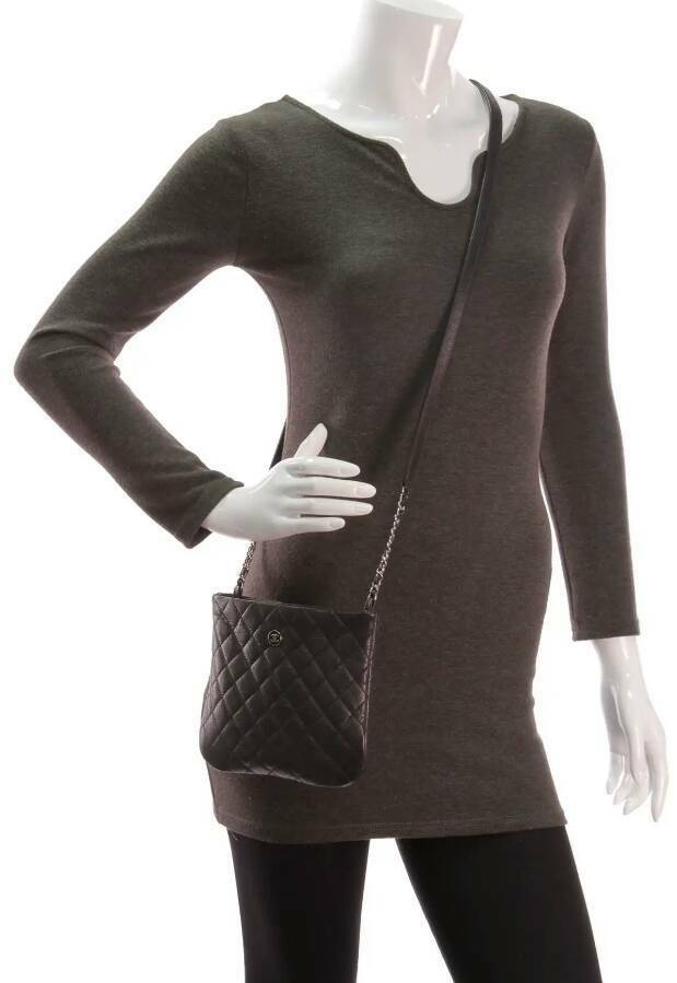 9d056c22b59 Chanel Black Quilted Leather Employee Uniform Crossbody Bag   in ...