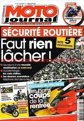 Moto journal 1968 yamaha tdm 900 triumph bonneville thruxton kawasaki w800 2011