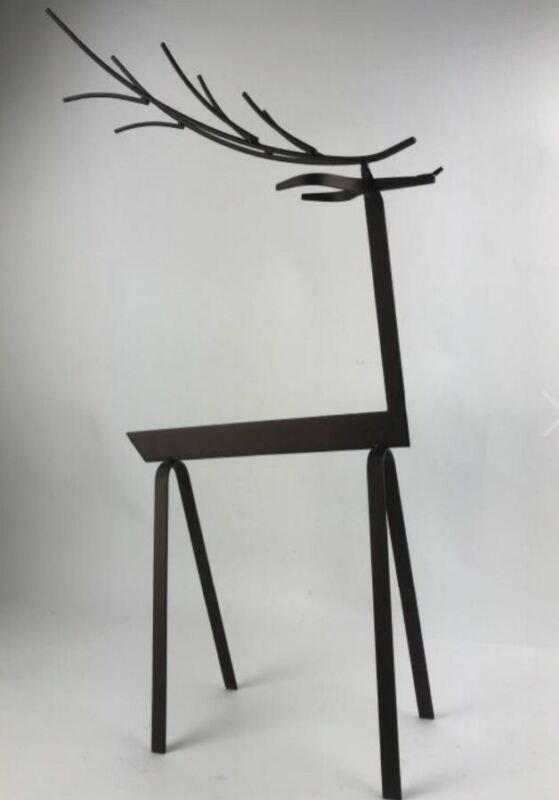 Large Metal Reindeer Deer Decor 26""