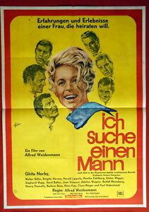 ich suche einen mann ghita norby 1966 rare german movie poster ebay. Black Bedroom Furniture Sets. Home Design Ideas