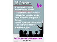 EFL Private Tutor- Available for weekly lessons, one-on-one, small classes, home schooling