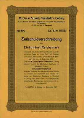 M. Oscar Arnold 1927 Neustadt Coburg Oberfranken Puppenkunst Emil Patzschke 100