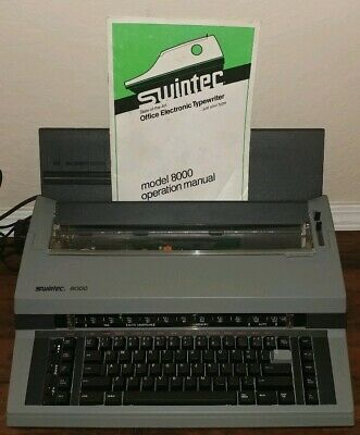 Swintec 8000 Electronic Typewriter - Complete - Operation Manual - With Ribbon