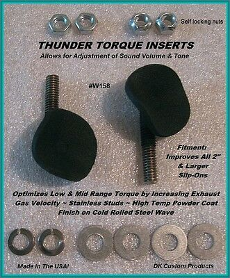 DK Custom Products Thunder Torque Inserts 158W motorcycle exhaust inserts 1 5/8""