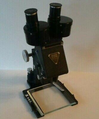 Vintage Bausch Lomb 255047 Stereo Binocular Microscope