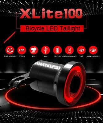 XLite100 Bicicleta Inteligente Luz de Freno Sentido LED USB Cola Trasera (un...