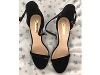 C brand new black suede heels 7