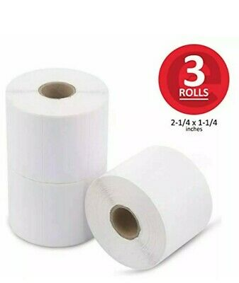 Enko 3 Rolls 3000 Labels 2-14 X 1-14 Inch Direct Thermal Address Mailing