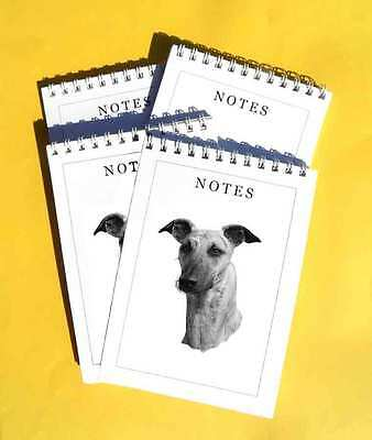 Lurcher Pack of 4, A6 Dog Notepads Gift Set