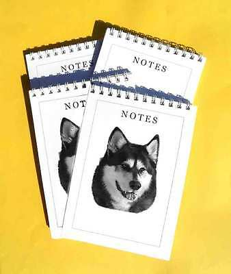 Siberian Husky Pack of 4, A6 Dog Notepads Gift Set