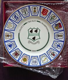 Worcestershire CCC Championship Plate 1989