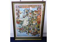 Welsh Folk Tales map in a glazed frame