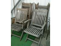 6 wooden chairs. ABC Row 5