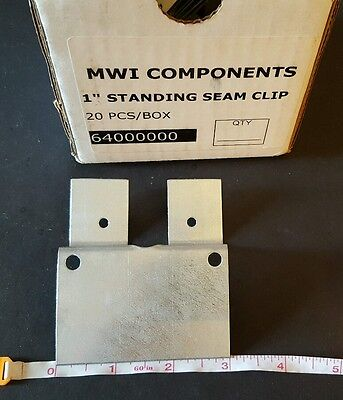 Mwi Components 1 Standing Seam Clips Box Of 20
