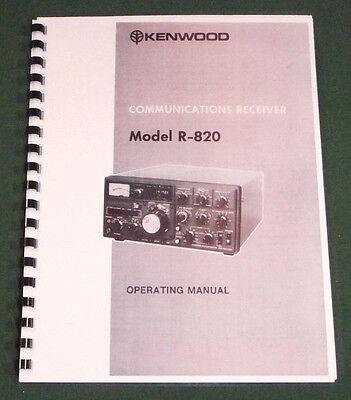 Premium Card Stock Covers /& 28 LB Paper! Kenwood R-820 Service Manual