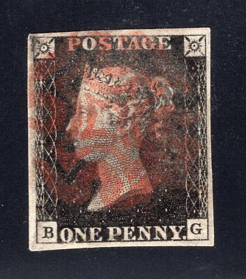 1840 Great Britain. SC#1. SG#2. Used, VF. Plate 10 (B-G)