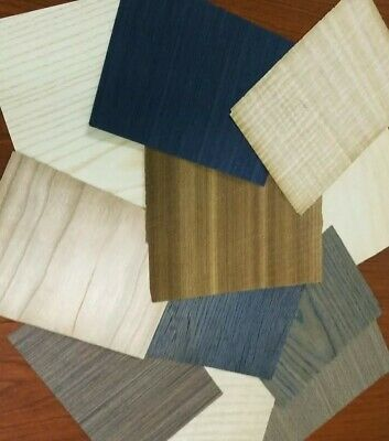 Wood Veneer 5 X7 65 Pieces Sheets Mixed Domestic Exotic Box Variety Art Pack.