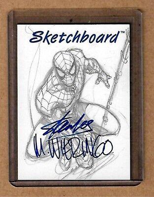 STAN LEE WIERINGO Autographed Sketchboard Very Rare Redemption Card 98 MCC  Auto