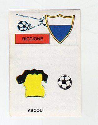 figurina CALCIO FLASH 1988 SCUDETTO CON MAGLIA RICCIONE - ASCOLI image