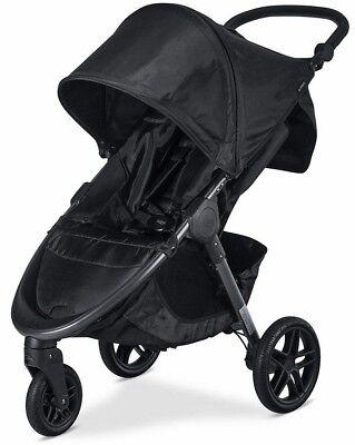 Britax B-Free One Hand Fold All Terrain Wheel Baby Stroller Cool Flow Gray NEW