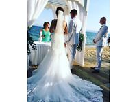 Wedding Dress for sale - mori lee worn once perfect condition - IVORY - size 10