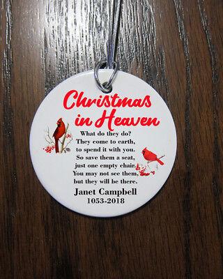 Memorial Cardinal in Heaven Christmas Ornament  2018 custom