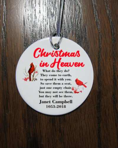 Memorial Cardinal in Heaven Christmas Ornament  2019 custom