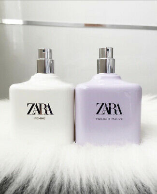 🌺 ZARA WOMEN FEMME + TWILIGHT MAUVE 100ml  DUO SET EDT SPRAY FRAGRANCE NEW 🌺