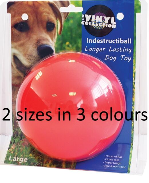 HAPPYPET INDESTRUCTIBALL NEARLY UNBREAKABLE TOUGH HEAVY DUTY DOG TOY 2 SIZES