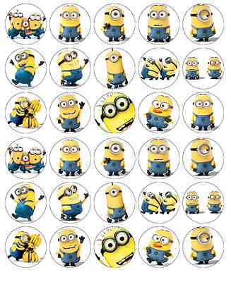 le Me Cupcake Toppers Edible Wafer Paper Fairy Cake Toppers (Despicable Me Cupcake Toppers)