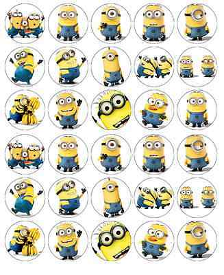 nions Cupcake Toppers Edible Wafer Paper Fairy Cake Toppers (Despicable Me Cupcake Toppers)