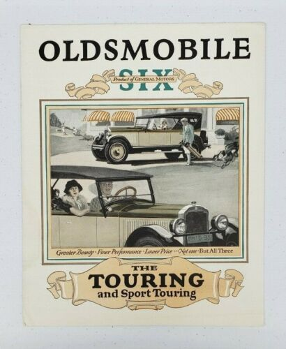 1926 Oldsmobile Touring and Sport Touring Sales Folder
