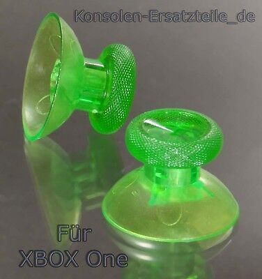 2 x XBOX ONE Thumb Sticks für Analog Controller Kappe Knopf Joystick GRÜN - klar