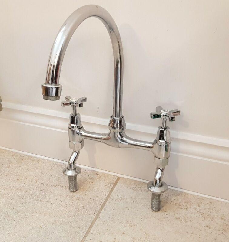 Reclaimed Chrome Kitchen Taps old vintage Belfast Sink type