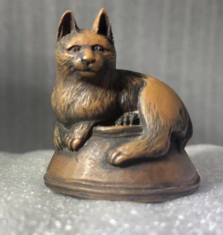 Netsuke? Cat On Bowl Atop Fish Metropolitan Museum of Art Gift Shop Reproduction