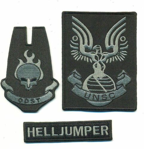 HALO TACTICAL GRAY/BLACK UNSC PATCH SET - HALO30/40/42